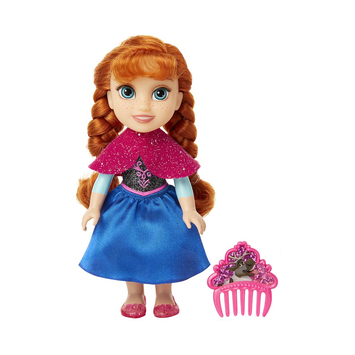 Papusa cu pieptan Disney Frozen 2, Anna