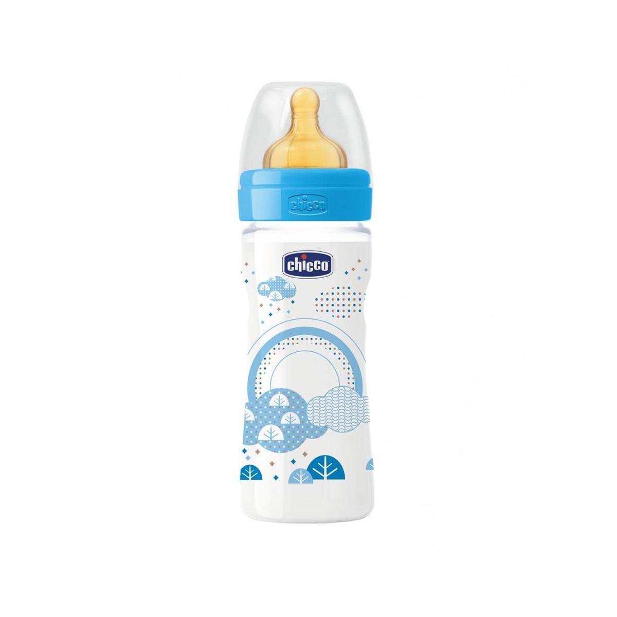 Biberon Wellbeing PP Chicco, 250 ml, 2 luni +, Albastru imagine