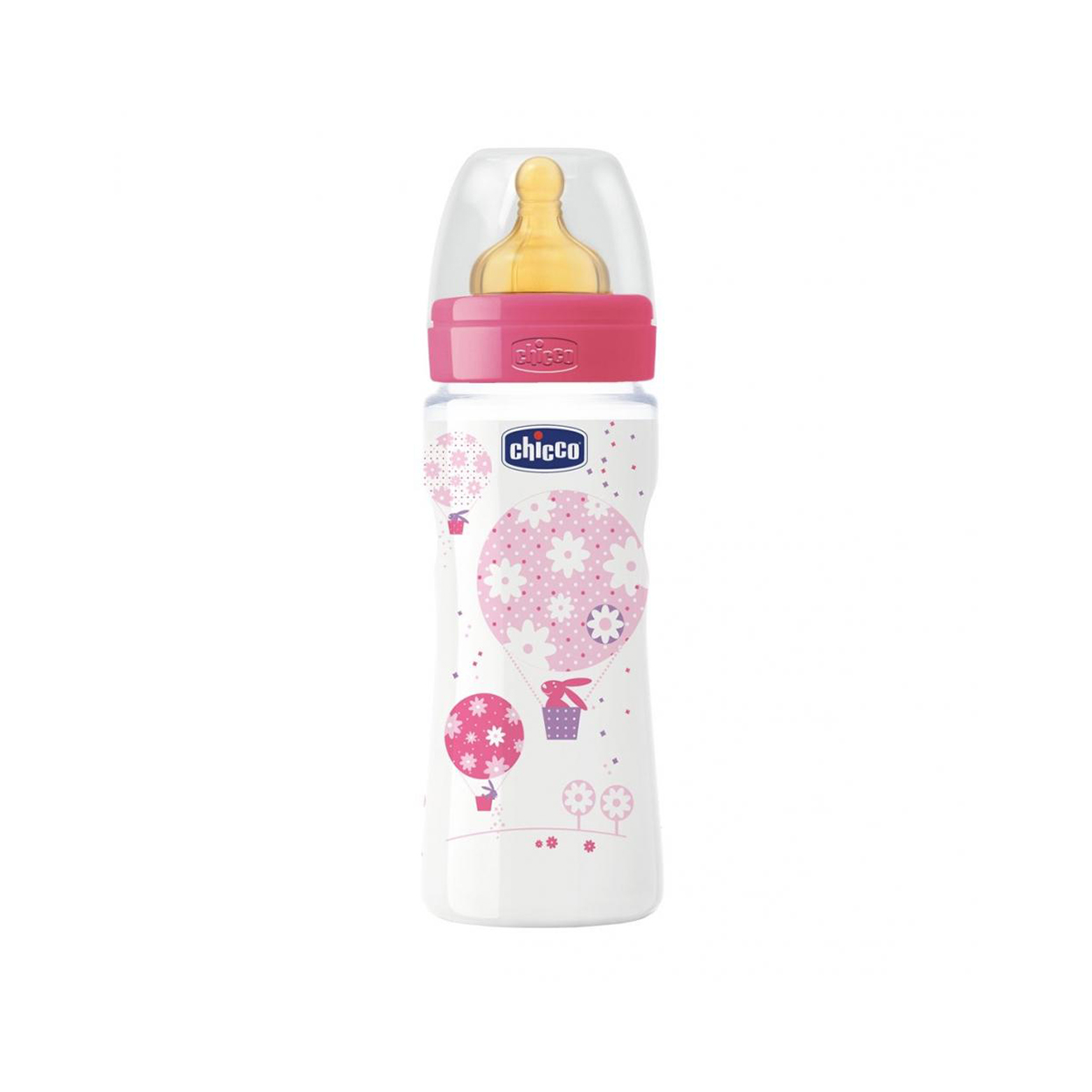 Biberon Wellbeing Chicco, 330 ml, 4 luni +, Roz imagine