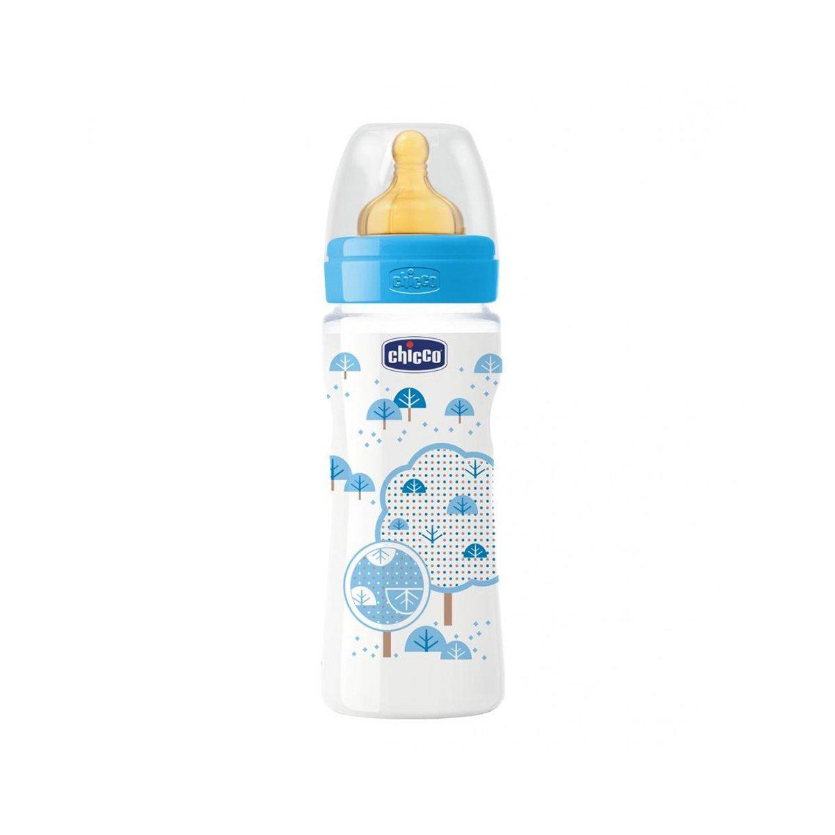 Biberon Wellbeing Chicco, 330 ml, 4 luni +, Albastru imagine