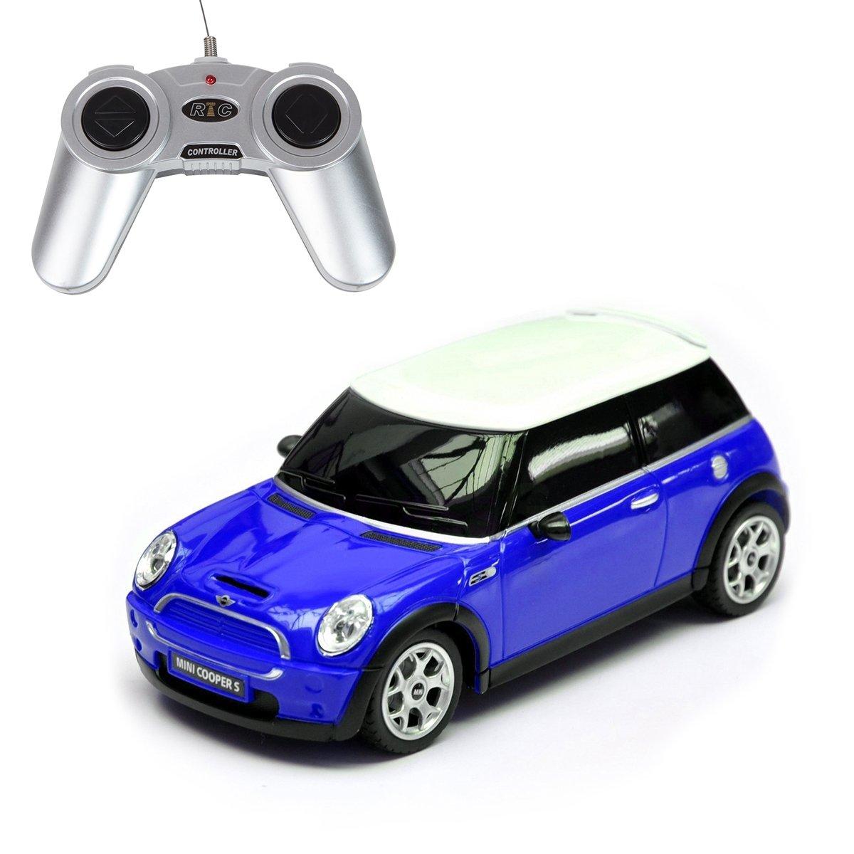 Masina cu telecomanda Rastar Mini Cooper S, 1:18, Albastru