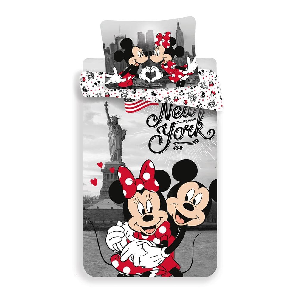 Set lenjerie de pat Mickey and Minnie Mouse, 140 x 200 cm