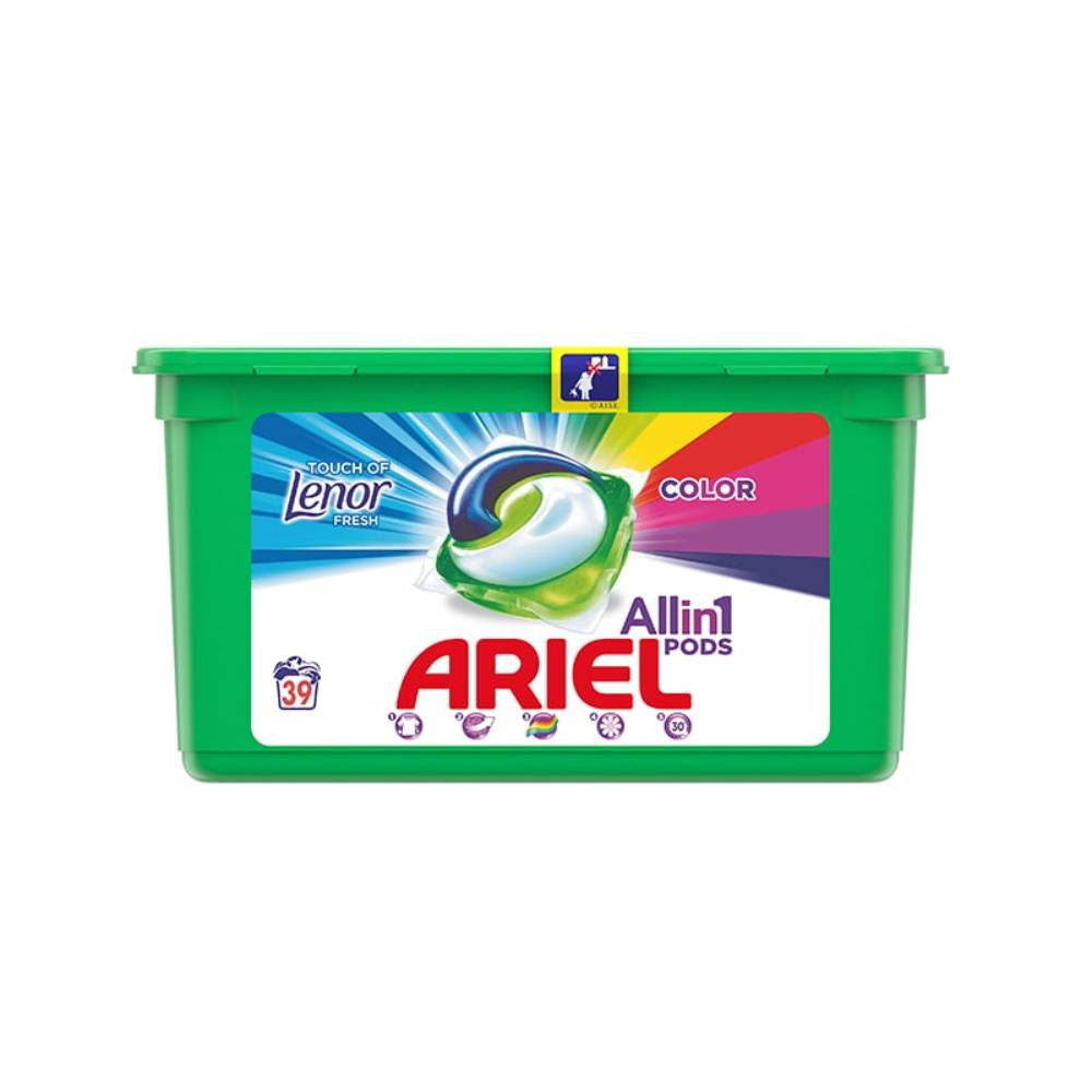 Detergent Ariel Capsule 39 x 27g Lenor Touch 3 in 1 Pods imagine 2021