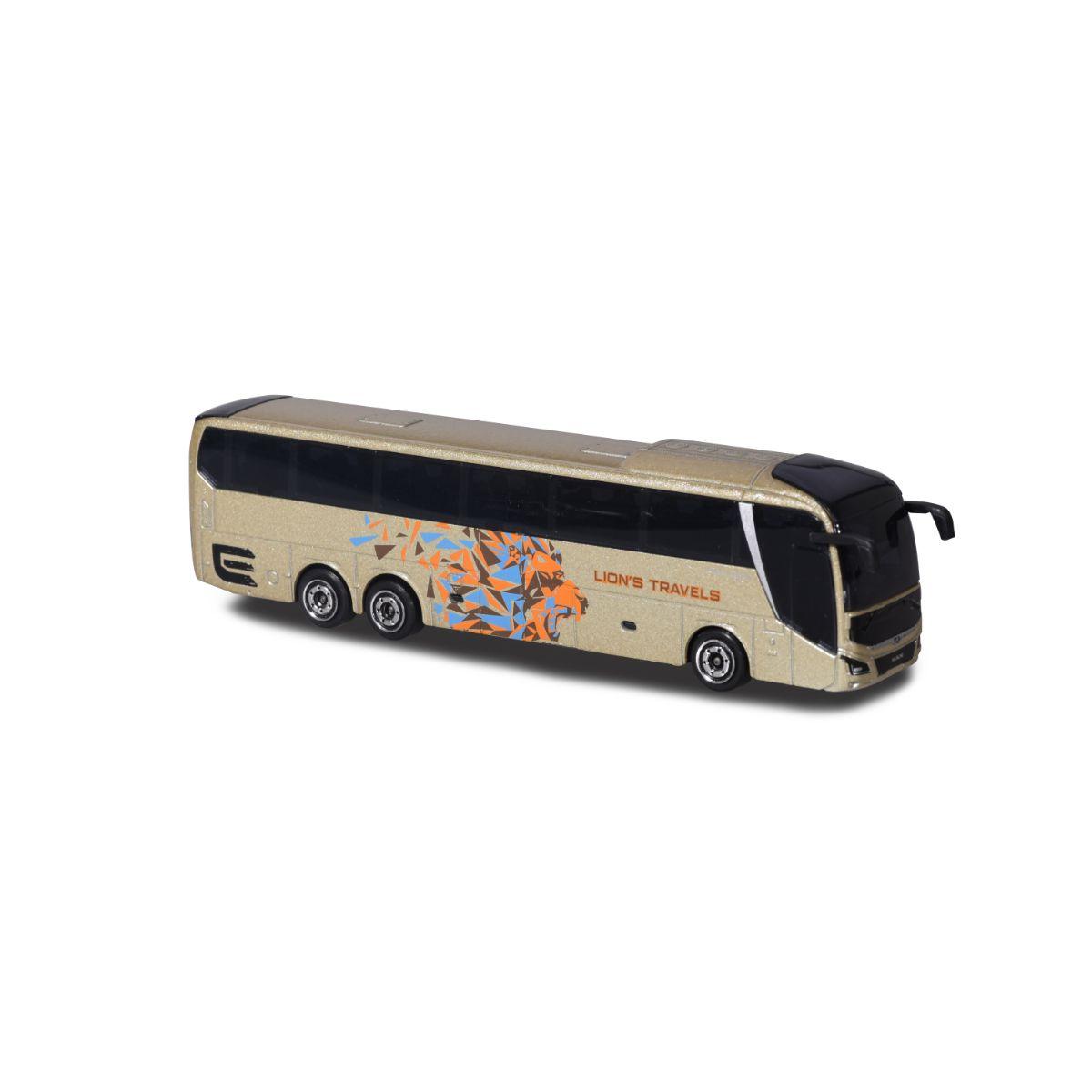 Autobuz de jucarie, Majorette, crem