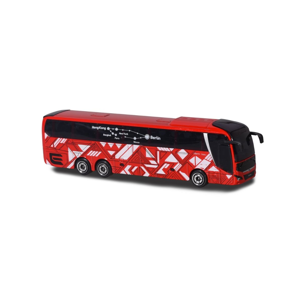 Autobuz de jucarie, Majorette, rosu
