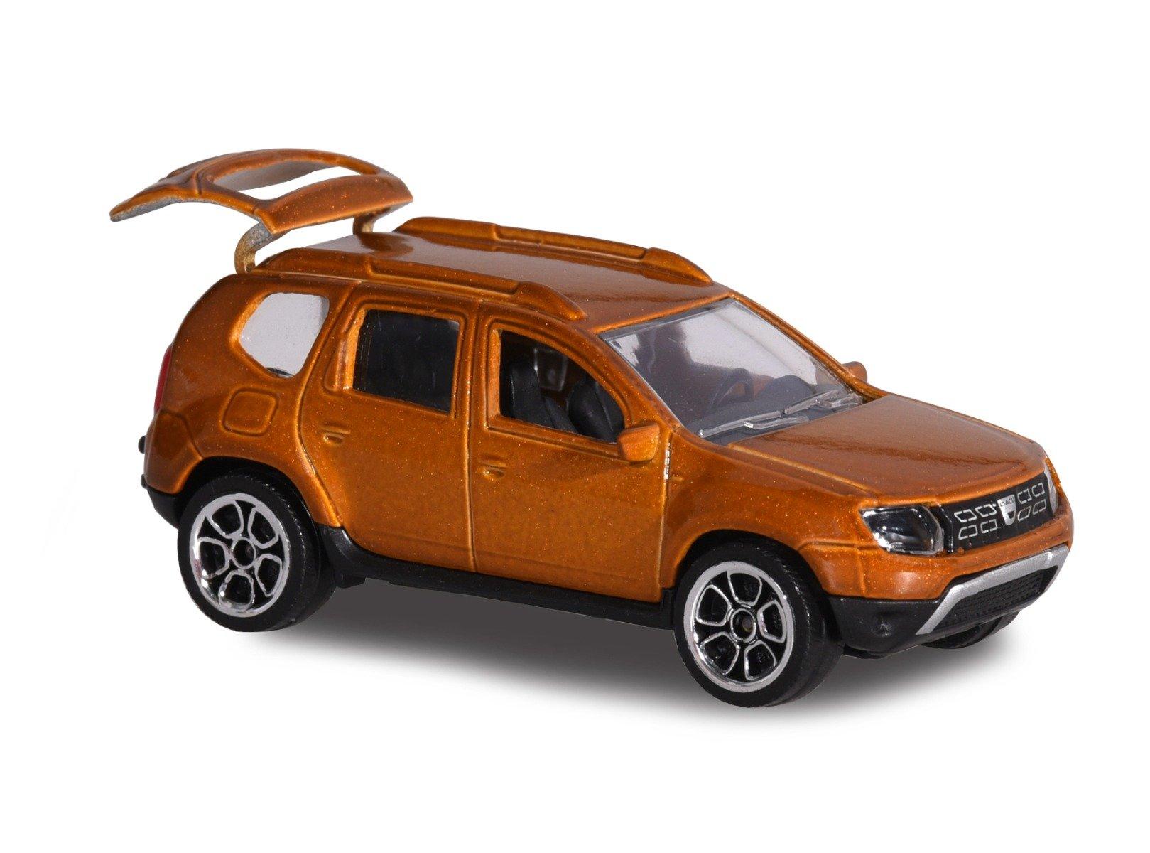 Masinuta Dacia Duster Majorette, 7.5 cm, Maro