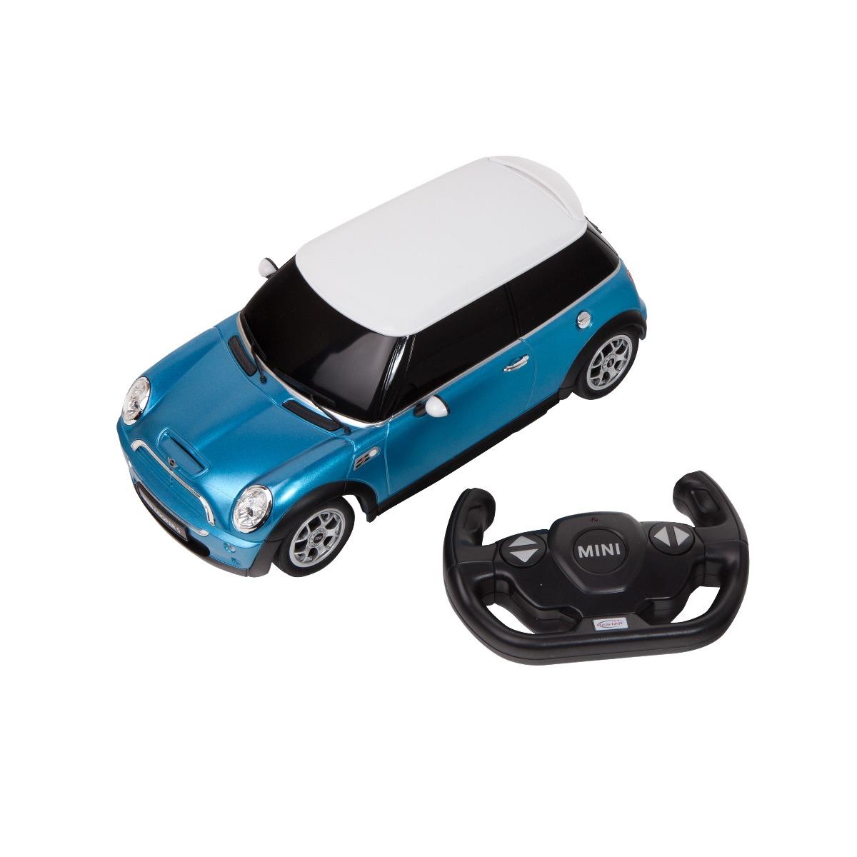 Masina cu telecomanda Rastar Mini Cooper S, 1:14, Albastru