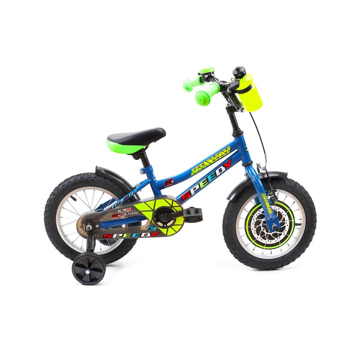 Bicicleta copii DHS, 14 inch, albastru