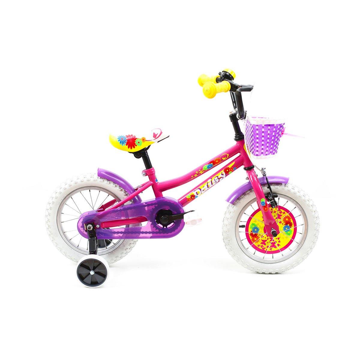 Bicicleta copii DHS, 14 inch, roz