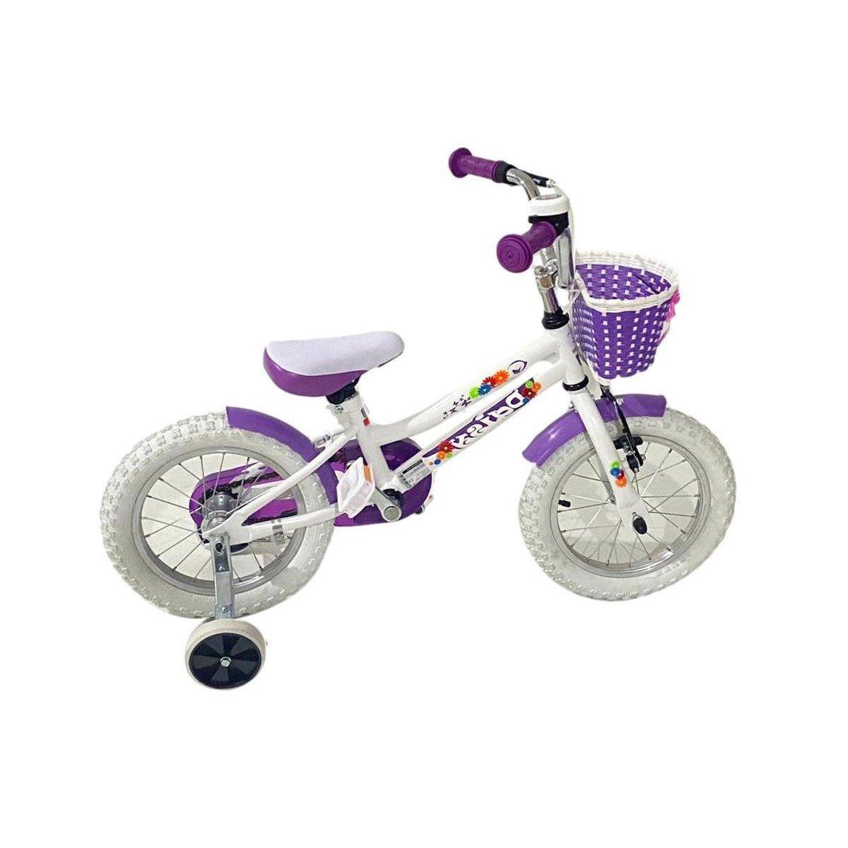 Bicicleta copii DHS, 14 inch, Alb