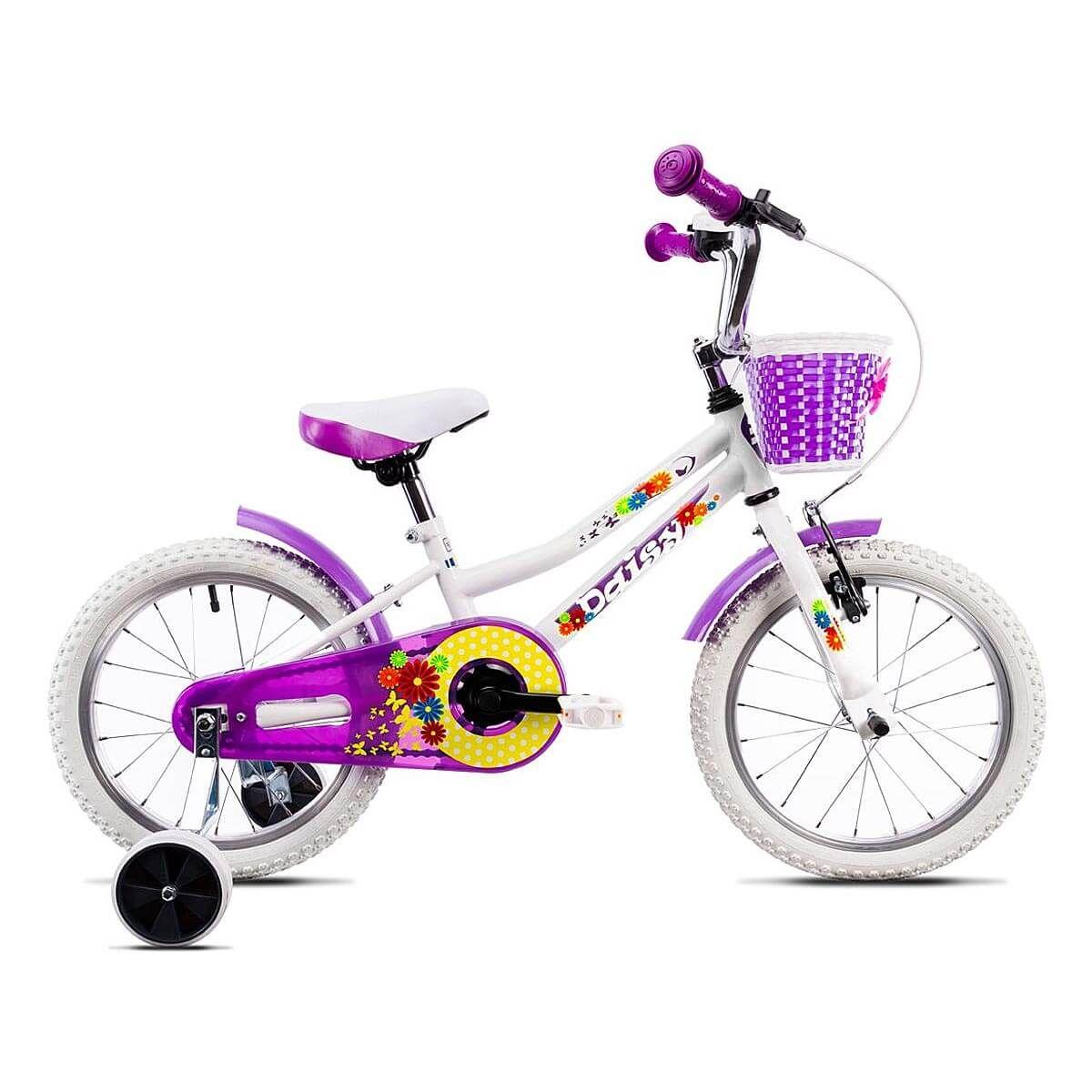 Bicicleta copii DHS, 16 inch, alb