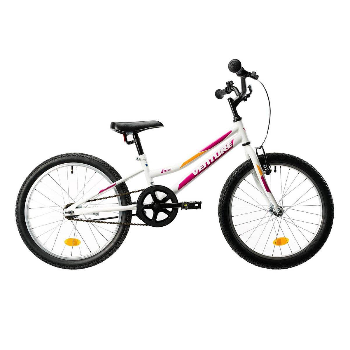 Bicicleta copii DHS Venture 2011, 20 inch, Alb-Roz