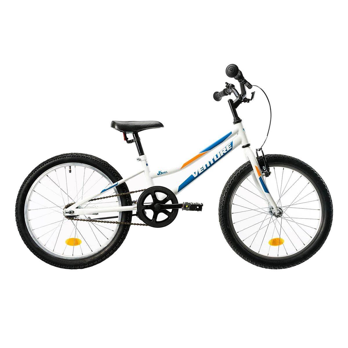 Bicicleta copii DHS Venture 2011, 20 inch, Alb-Albastru