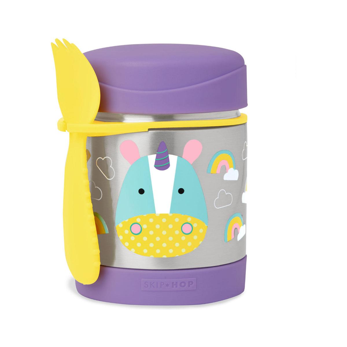 Recipient pentru mancare Zoo Skip Hop, 325 ml, Unicorn imagine