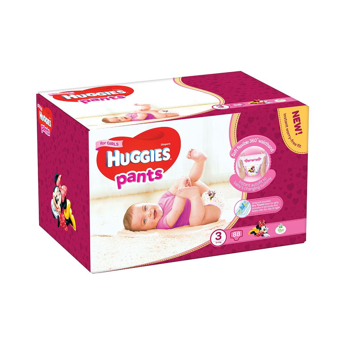 Scutece Huggies Pants Box Girls, Nr 3, 6 - 11 Kg, 88 buc imagine
