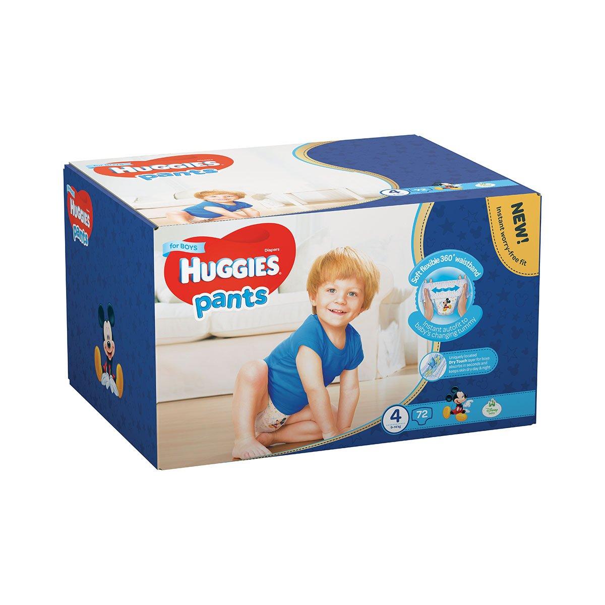 Scutece Huggies Pants Box Boys, Nr 4, 9 - 14 Kg, 72 buc imagine