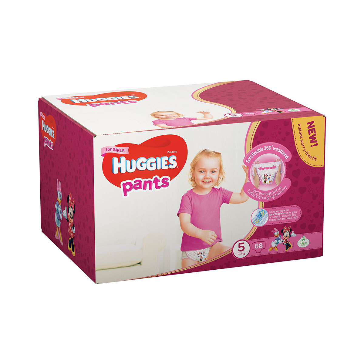 Scutece Huggies Pants Box Girls, Nr 5, 12 - 17 Kg, 68 buc imagine 2021
