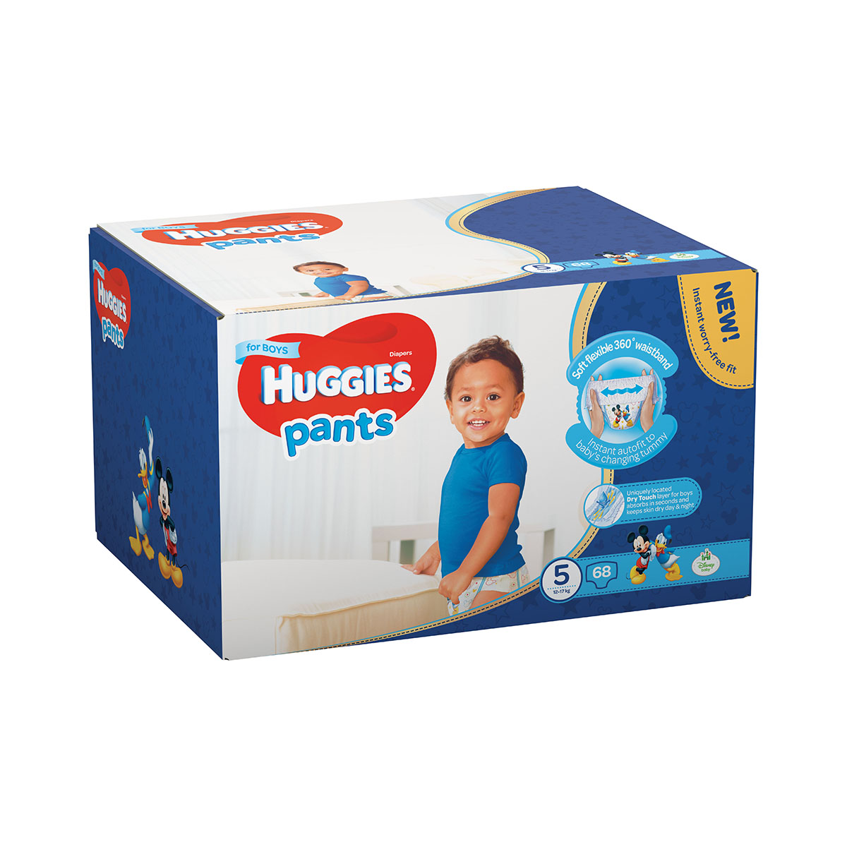 Scutece Huggies Pants Box Boys, Nr 5, 12 - 17 Kg, 68 buc imagine