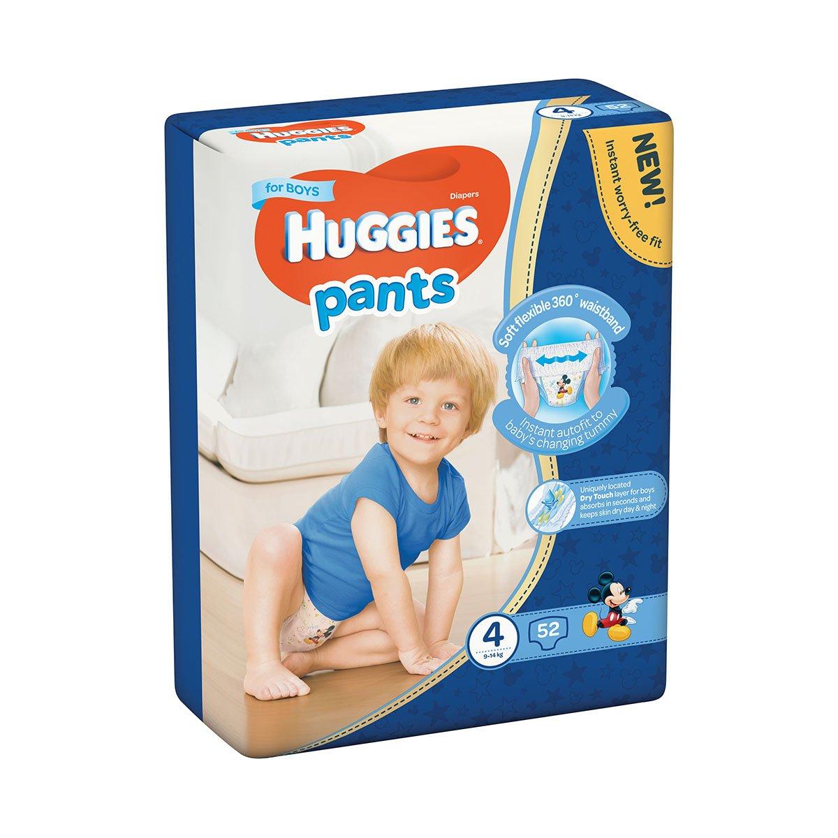 Scutece Huggies Mega Pants Boys, Nr 4, 9 - 14 Kg, 52 buc imagine