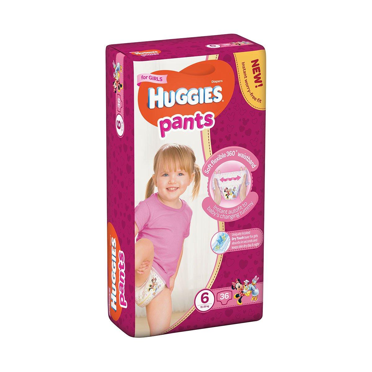 Scutece Huggies Mega Pants Girls, Nr 6, 15 - 25 Kg, 36 buc imagine