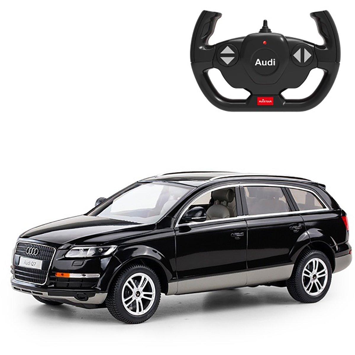 Masinuta cu telecomanda Rastar Audi Q7, Negru, 1:14