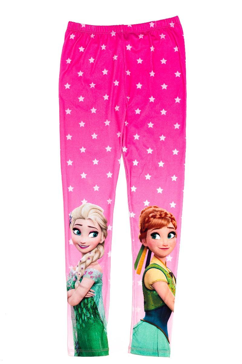 Colanti cu imprimeu Disney Frozen Anna si Elsa, Roz