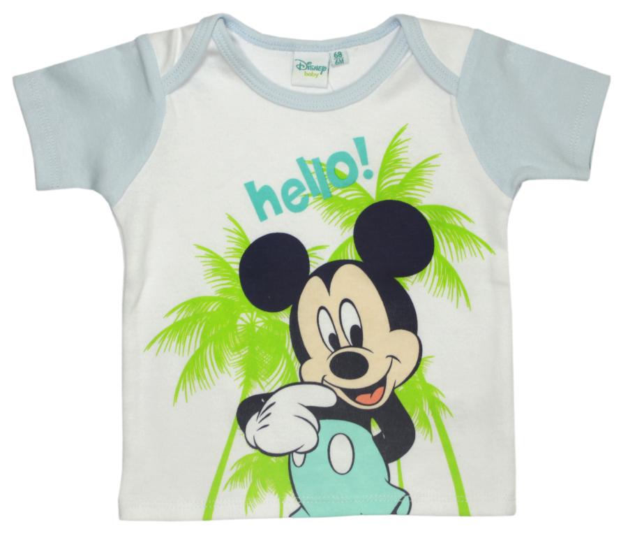 Tricou cu imprimeu Disney Mickey Mouse, Hello, Alb imagine
