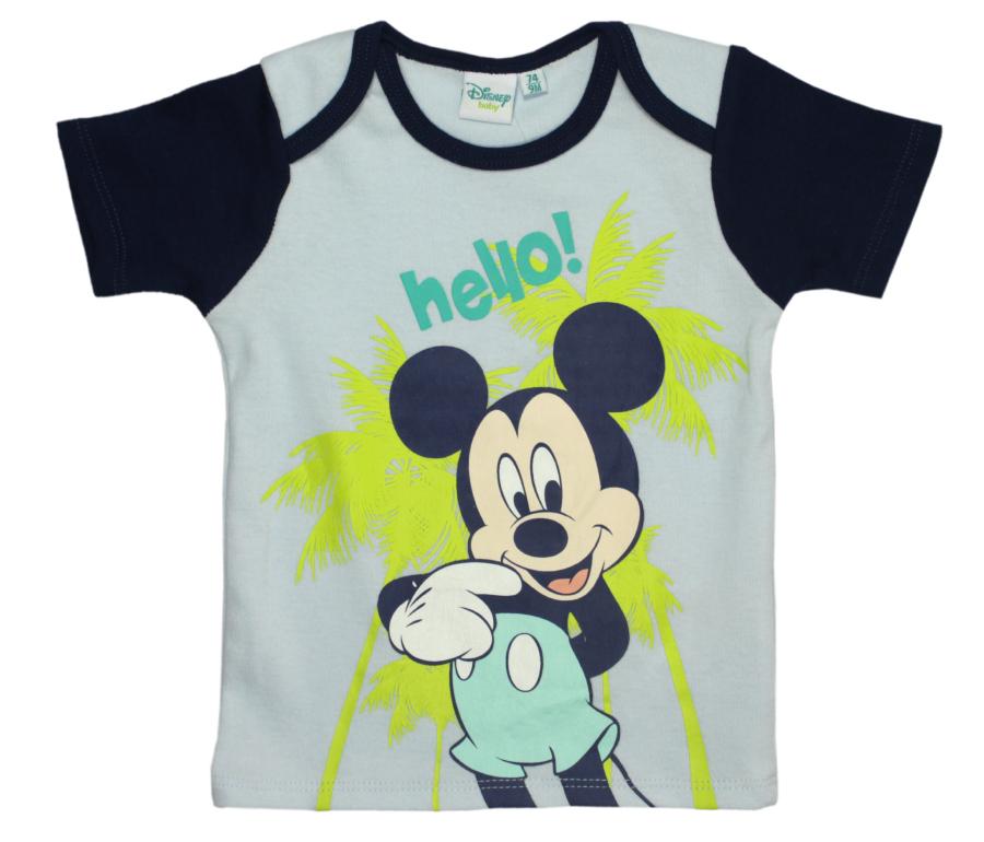 Tricou cu imprimeu Disney Mickey Mouse, Hello, Albastru