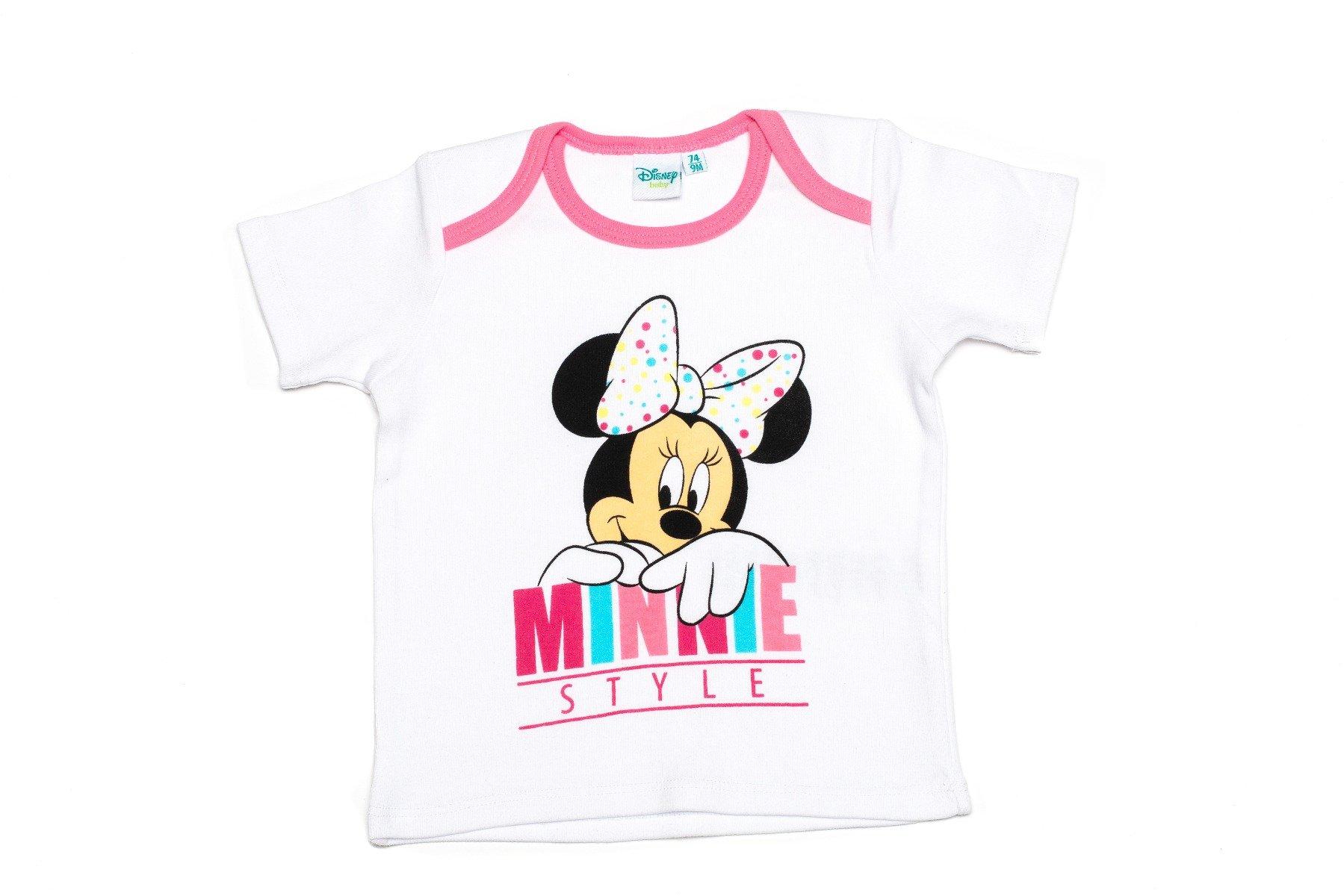 Tricou cu maneca scurta si imprimeu Disney Minnie, Alb imagine