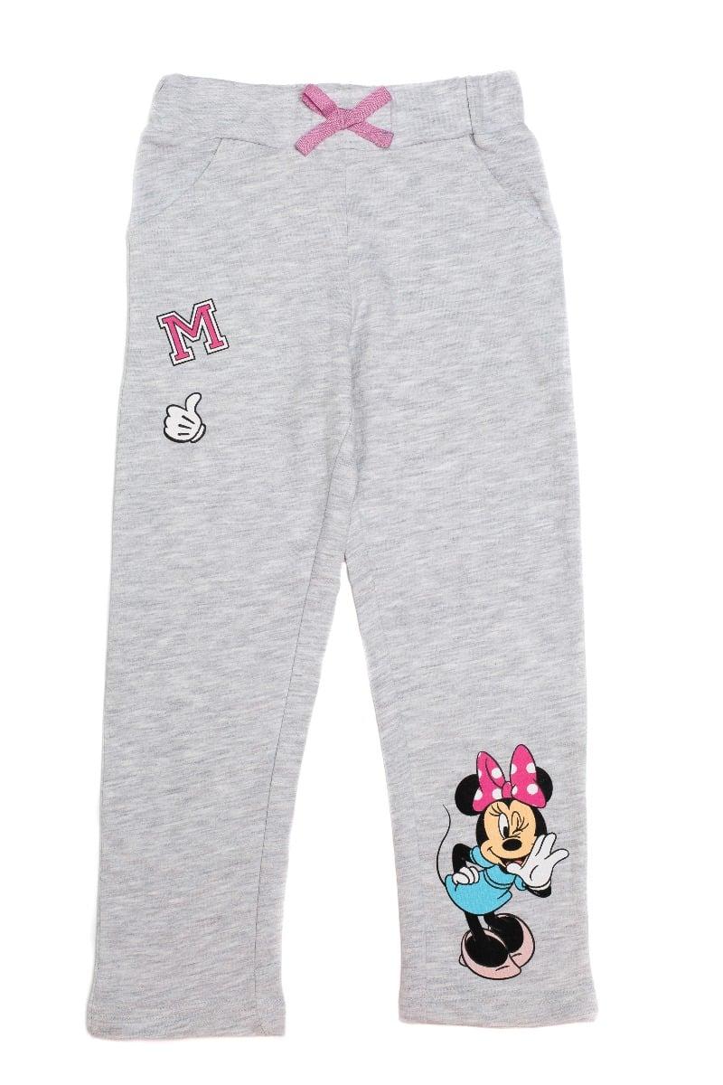 Pantaloni lungi cu imprimeu Disney Minnie, M, Gri