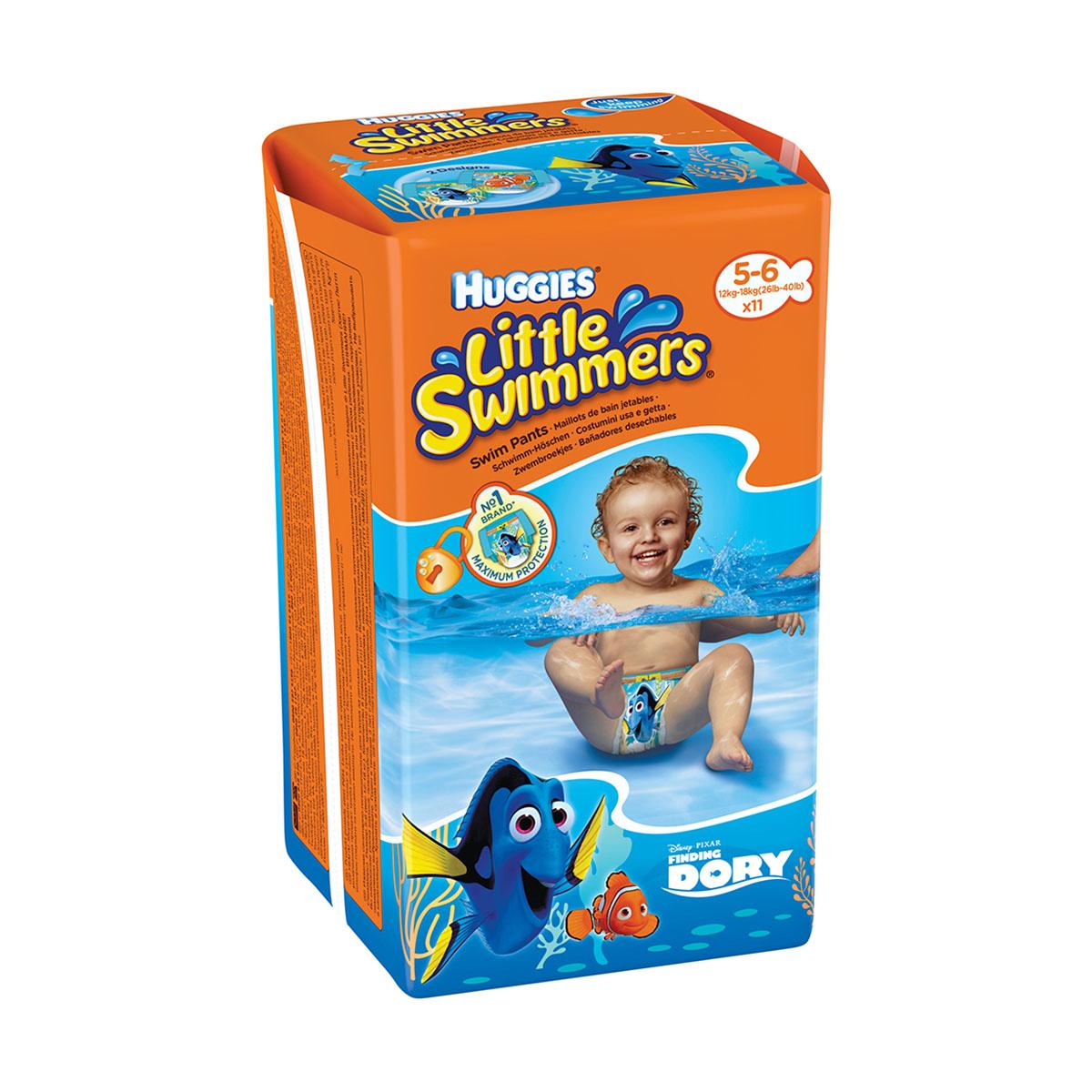 Scutece Huggies Little Swimmers, Nr 5-6, 12 - 18 Kg, 11 buc imagine