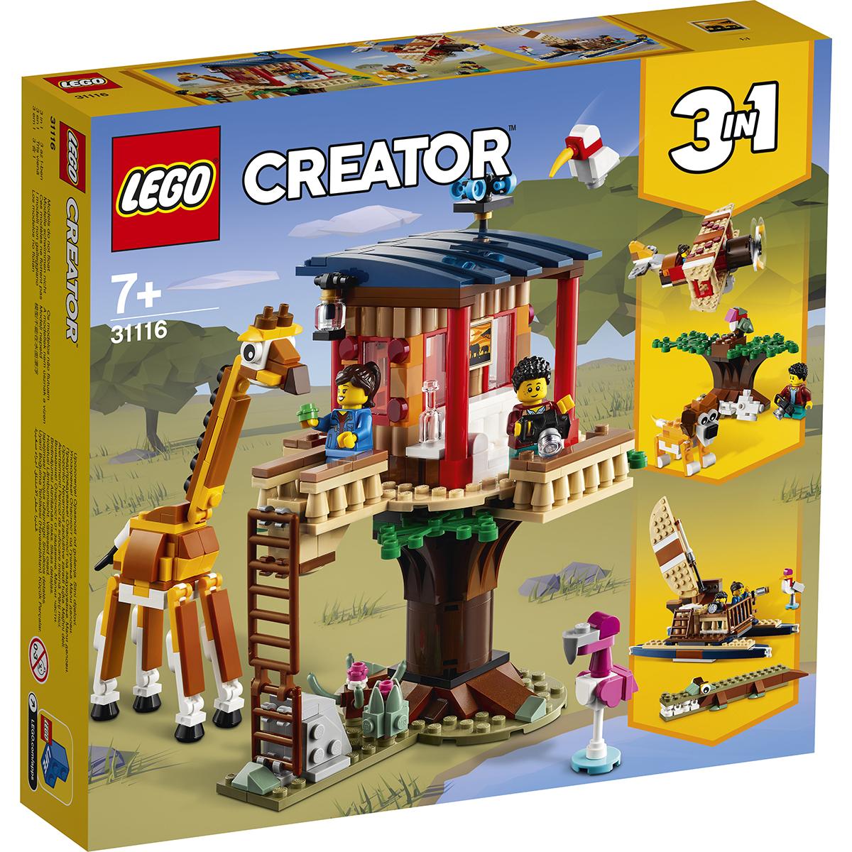 LEGO® Creator - Casuta din copac cu animale salbatice din safari (31116)