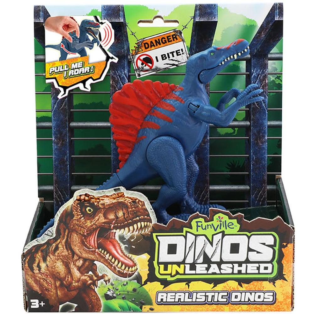 Jucarie interactiva Dinos Unleashed, Dinozaur, Albastru