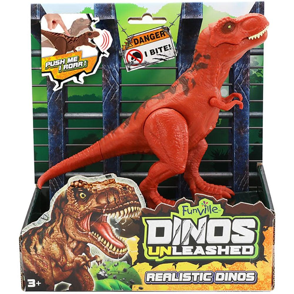 Jucarie interactiva Dinos Unleashed, Dinozaur, Rosu