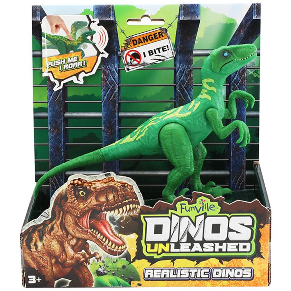 Jucarie interactiva Dinos Unleashed, Dinozaur, Verde