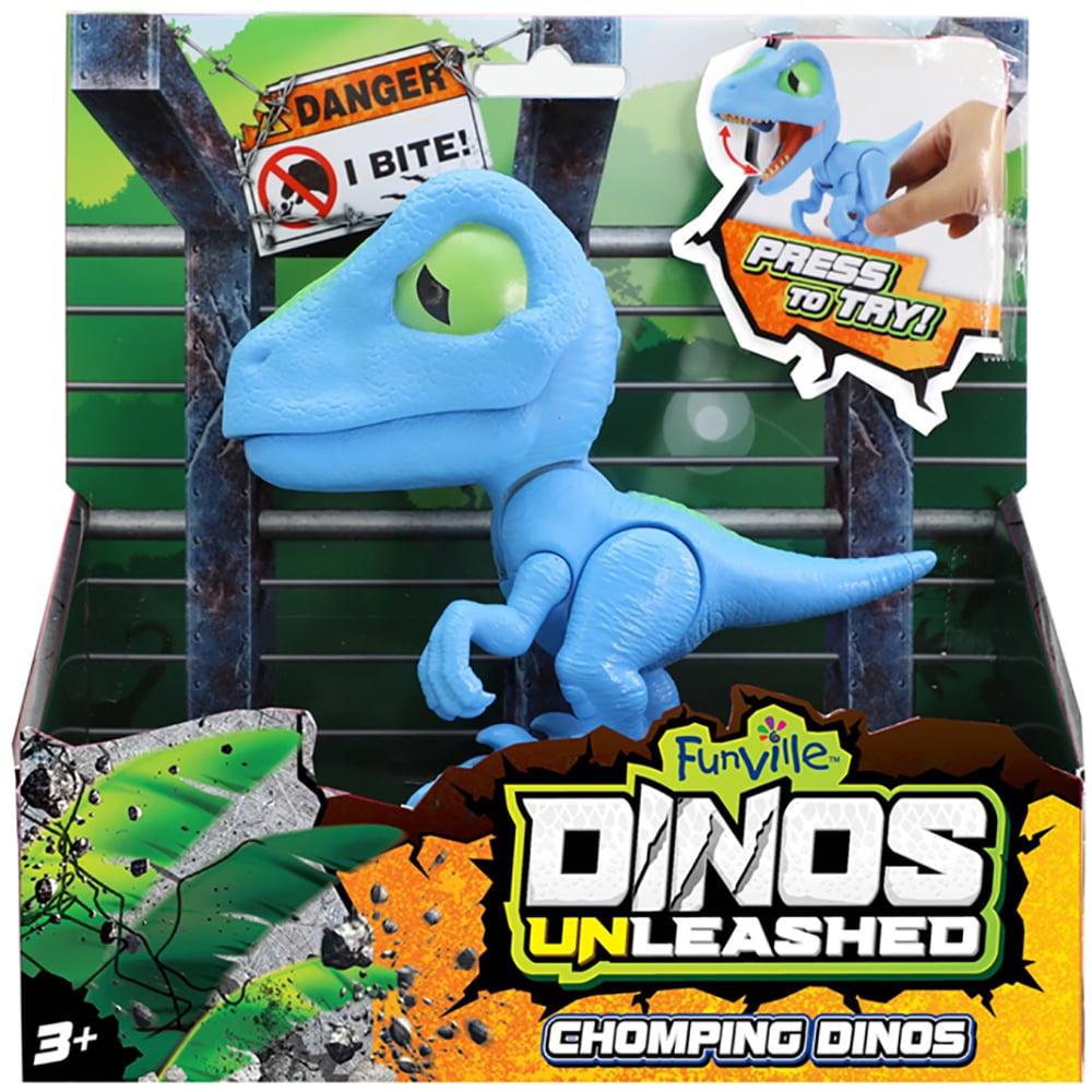 Jucarie interactiva Dinos Unleashed Chomping, Albastru