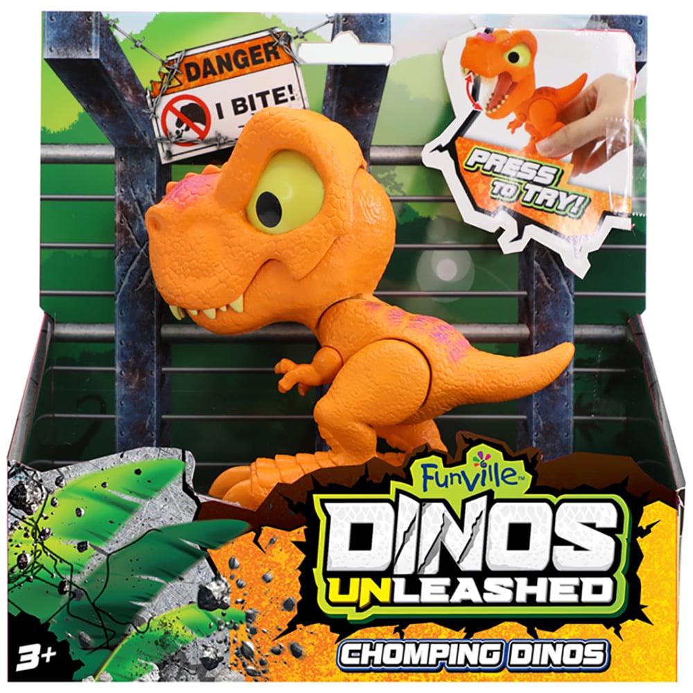 Jucarie interactiva Dinos Unleashed Chomping, Portocaliu