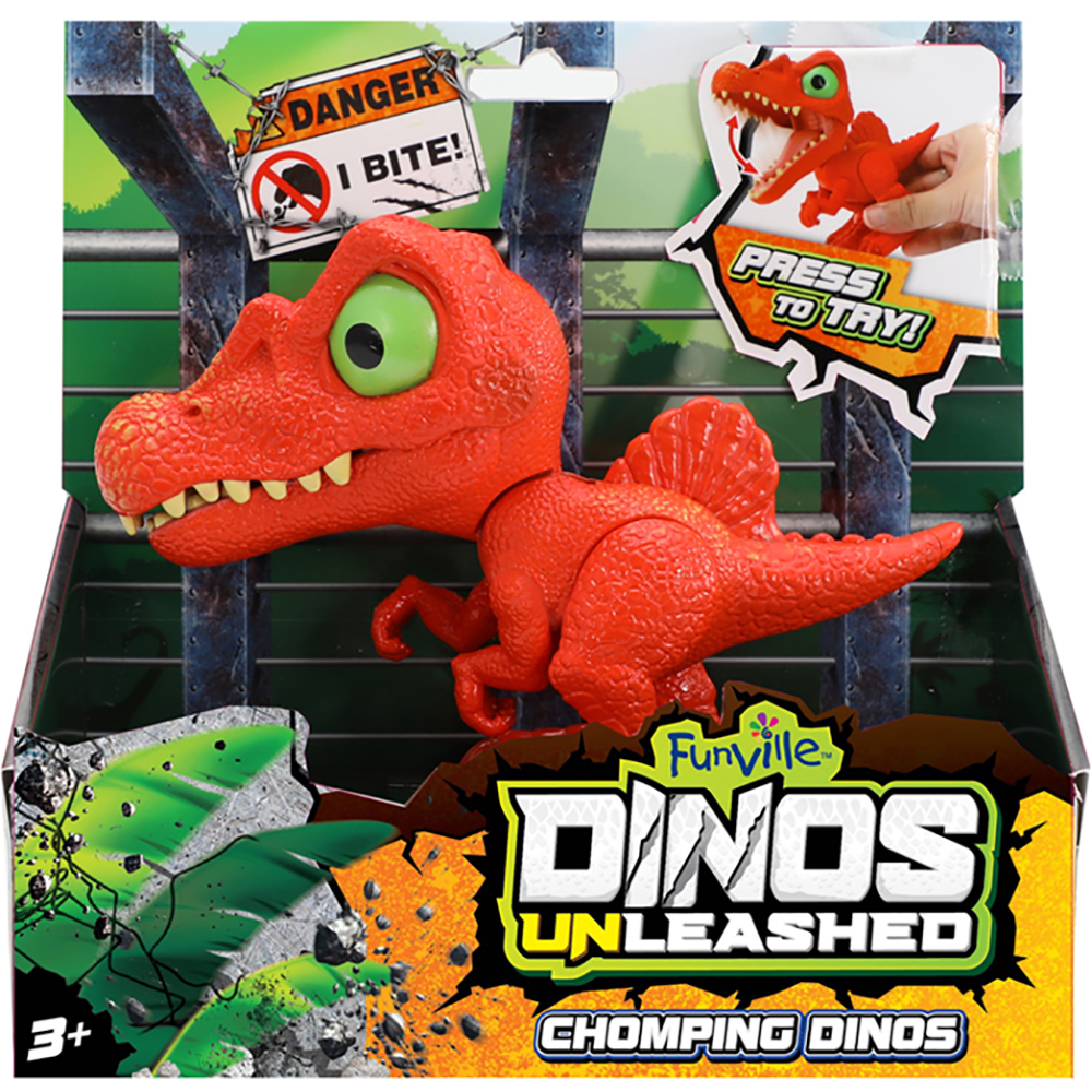 Jucarie interactiva Dinos Unleashed Chomping, Rosu