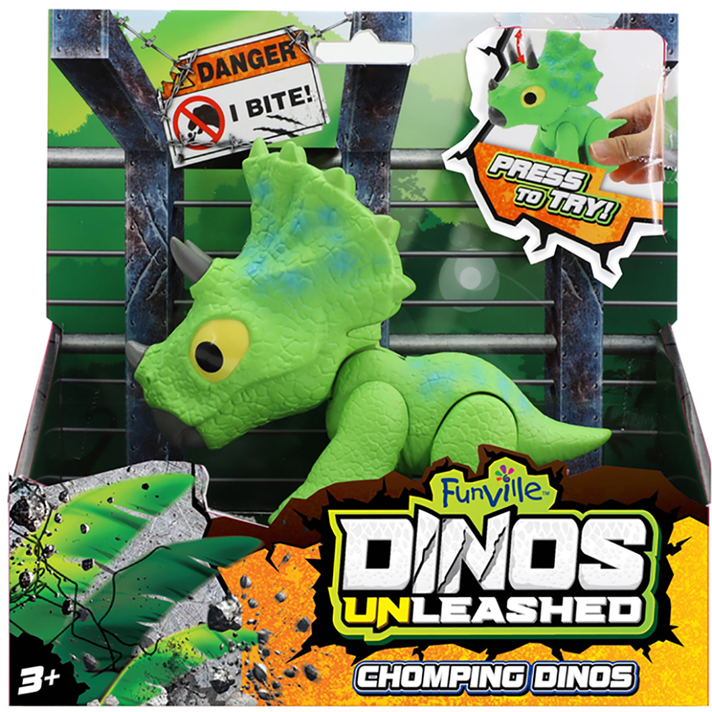 Jucarie interactiva Dinos Unleashed Chomping, Verde