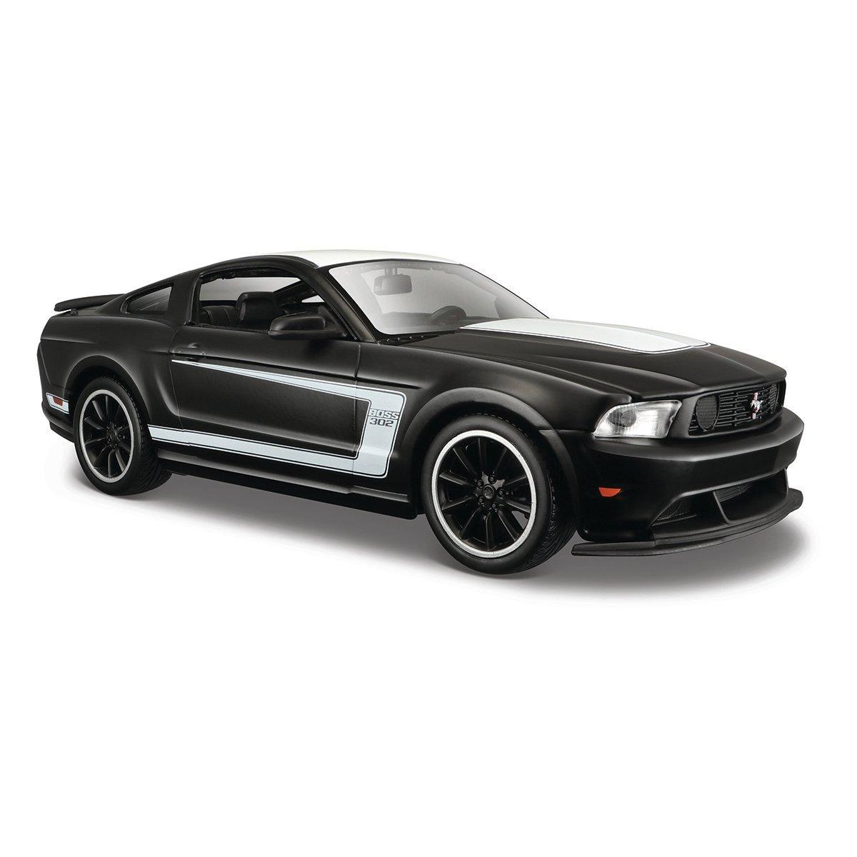 Masinuta Maisto Ford Mustang Boss 302, 1:24, Negru mat