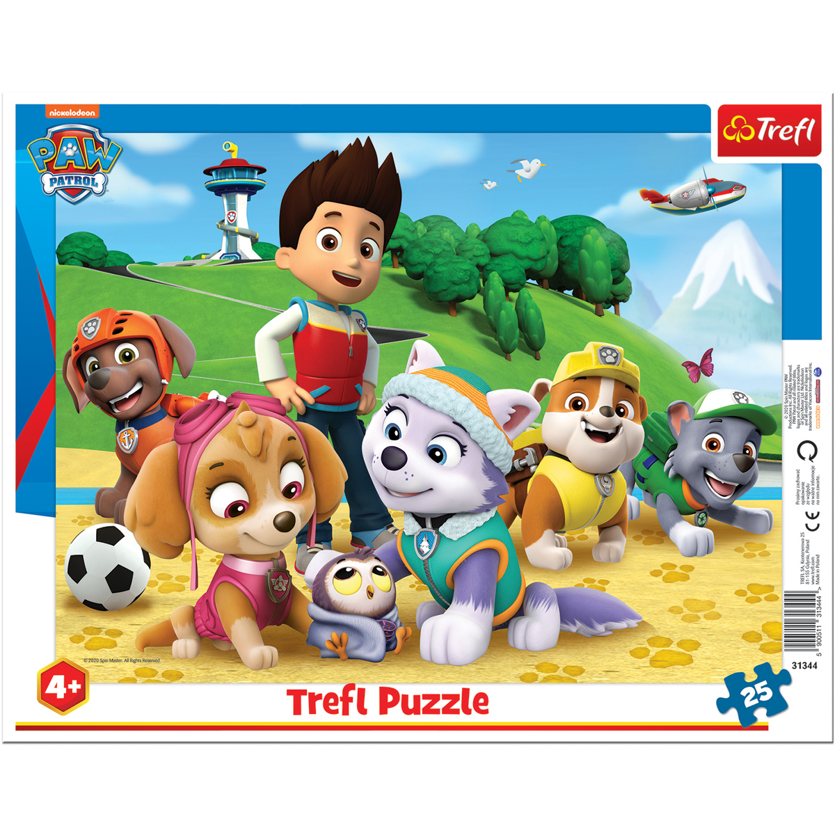 Puzzle Trefl 25 piese in rama, Adulmecand urmele, Paw Patrol
