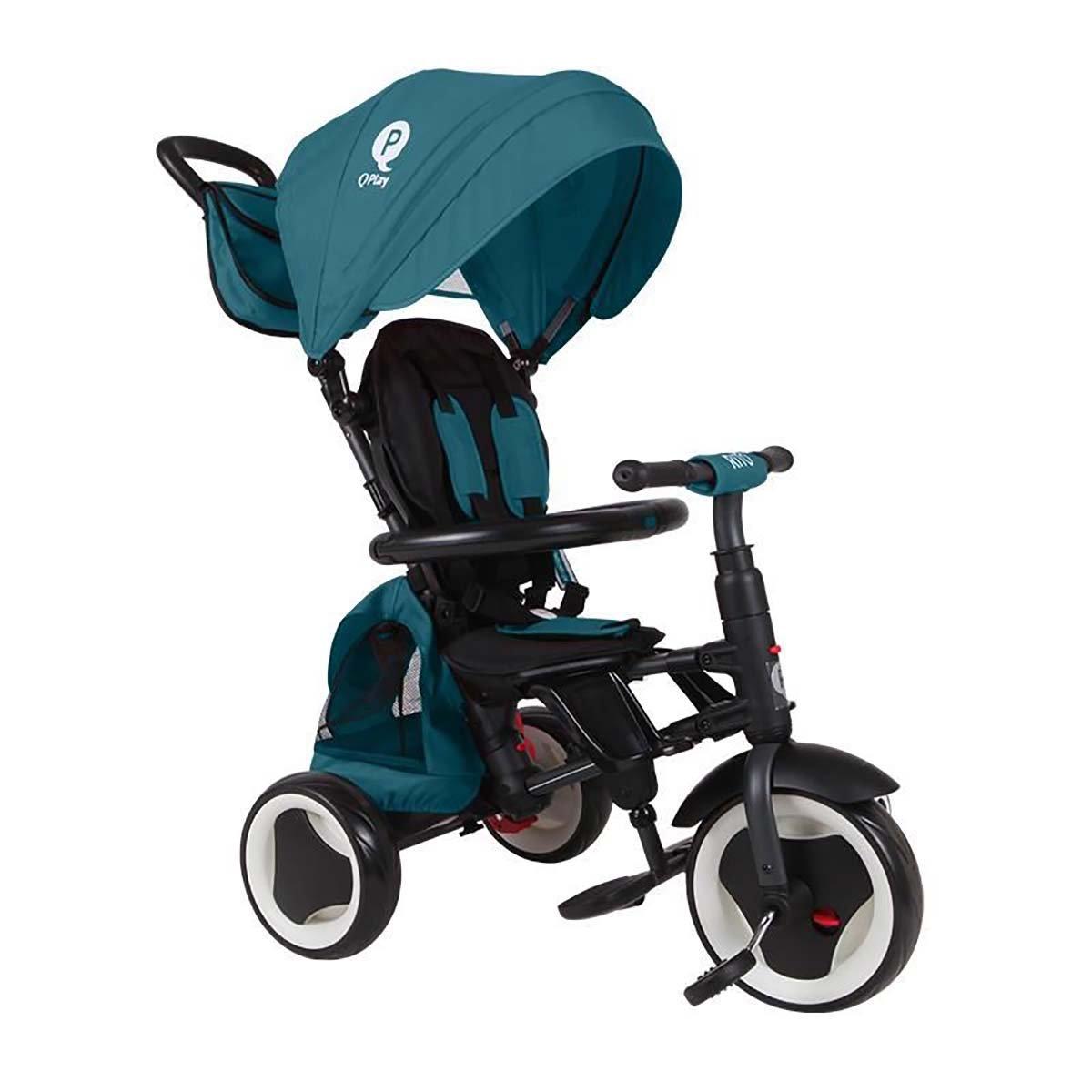 Tricicleta pliabila Qplay Rito Plus, Turcoaz imagine