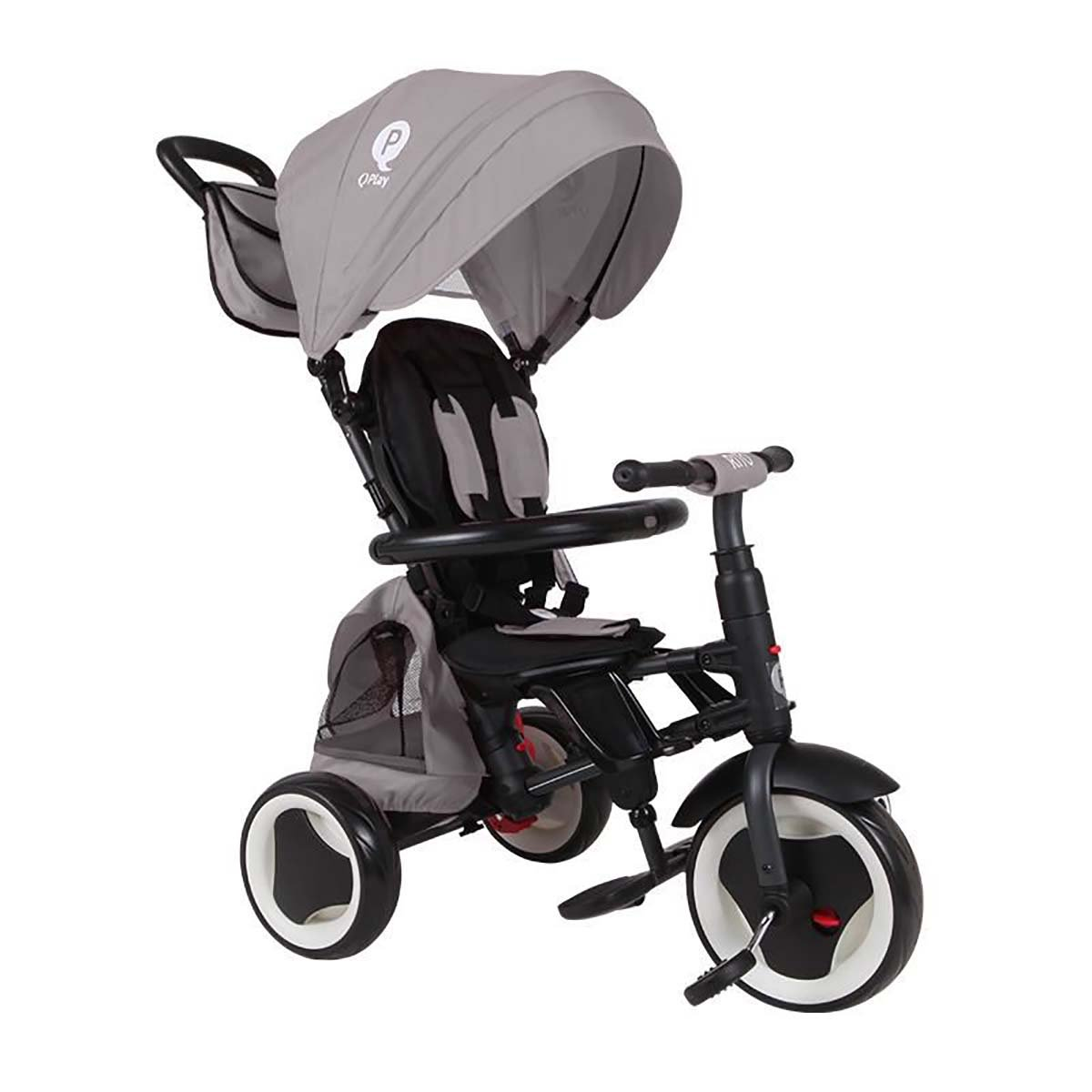 Tricicleta pliabila Qplay Rito Plus, Gri