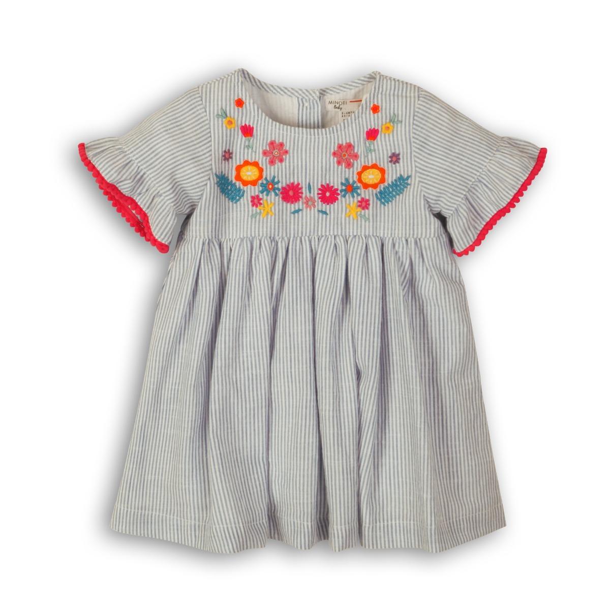 Set rochie cu maneca scurta si chilotei Minoti Parade imagine