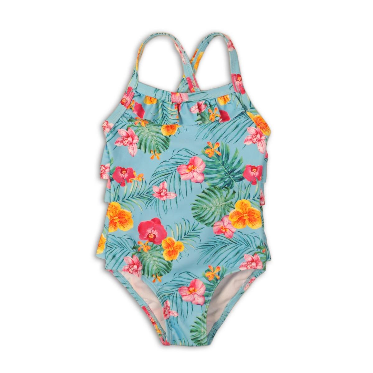 Costum de baie cu imprimeu tropical Minoti Swim imagine