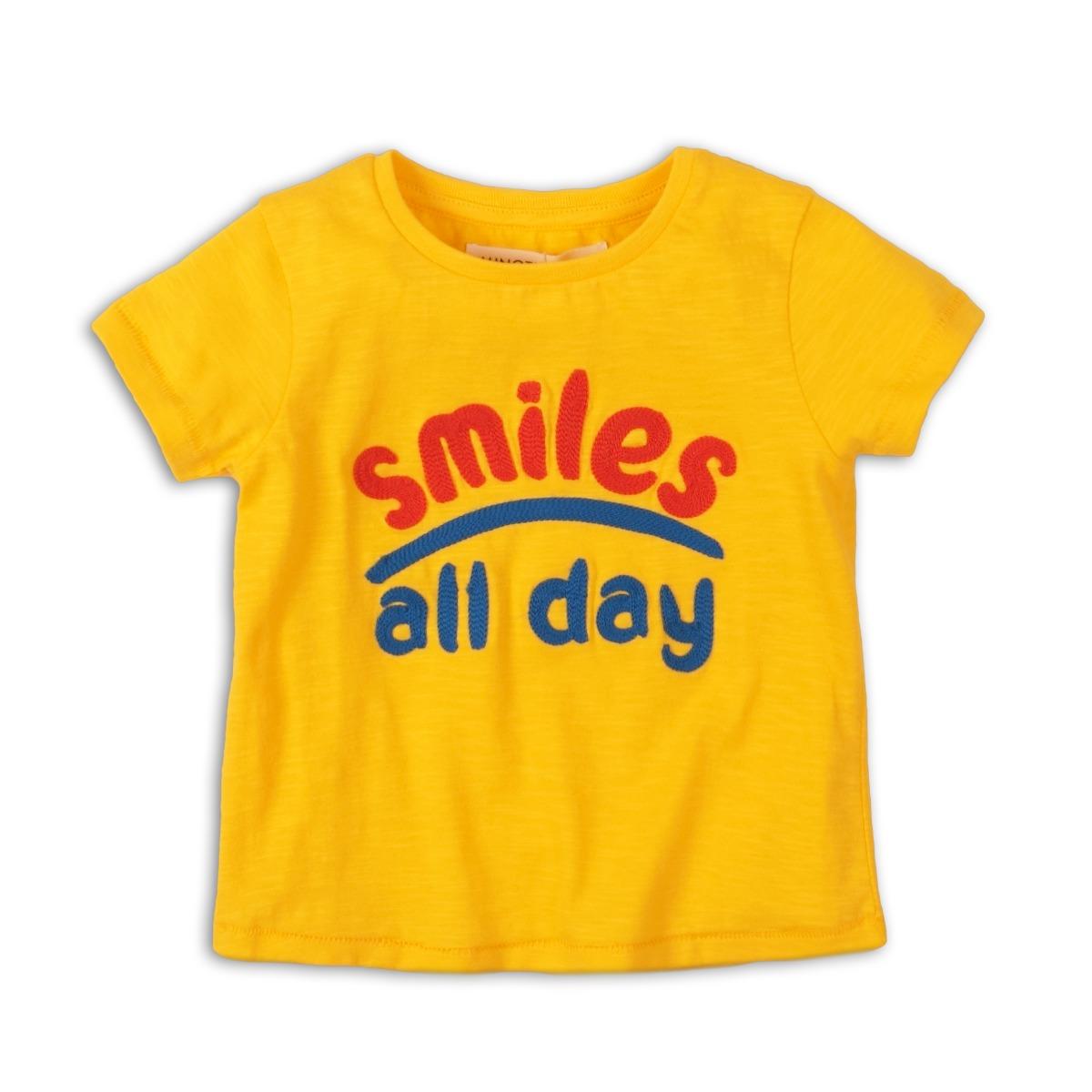 Tricou cu maneca scurta Minoti Girl Smiles All Day