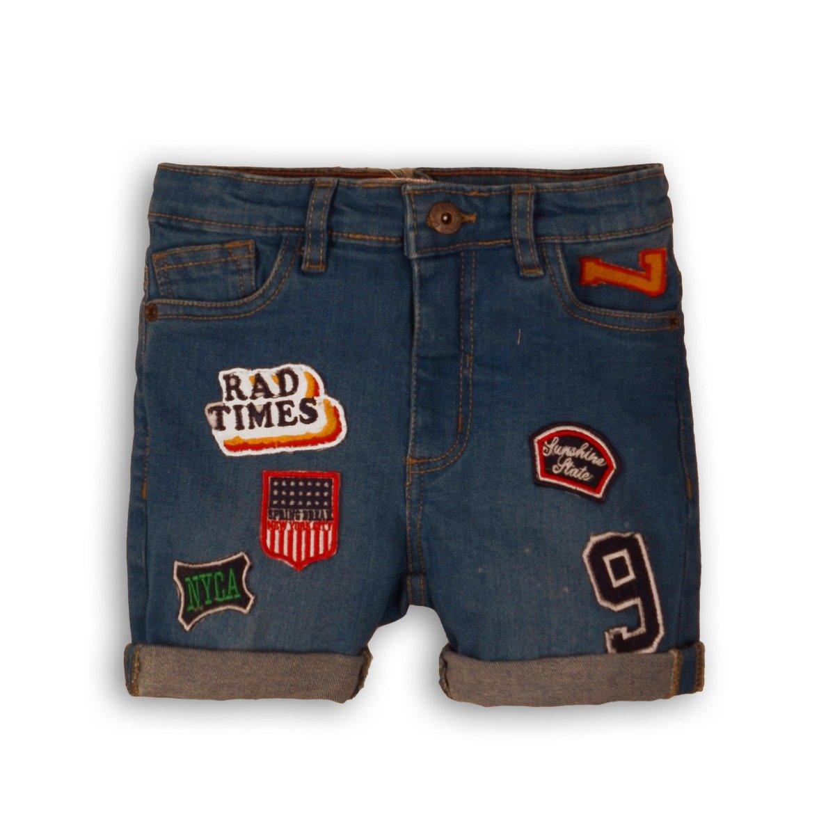 Pantaloni jeans scurti cu buzunare Minoti Break imagine