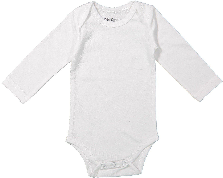 Body bebe cu maneca lunga Dirkje, Alb N59
