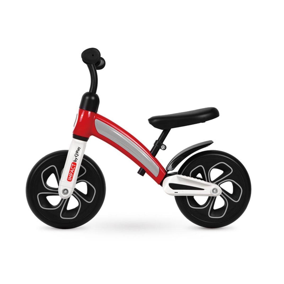 Bicicleta fara pedale DHS Baby Qplay Impact, Rosu, 10 inch