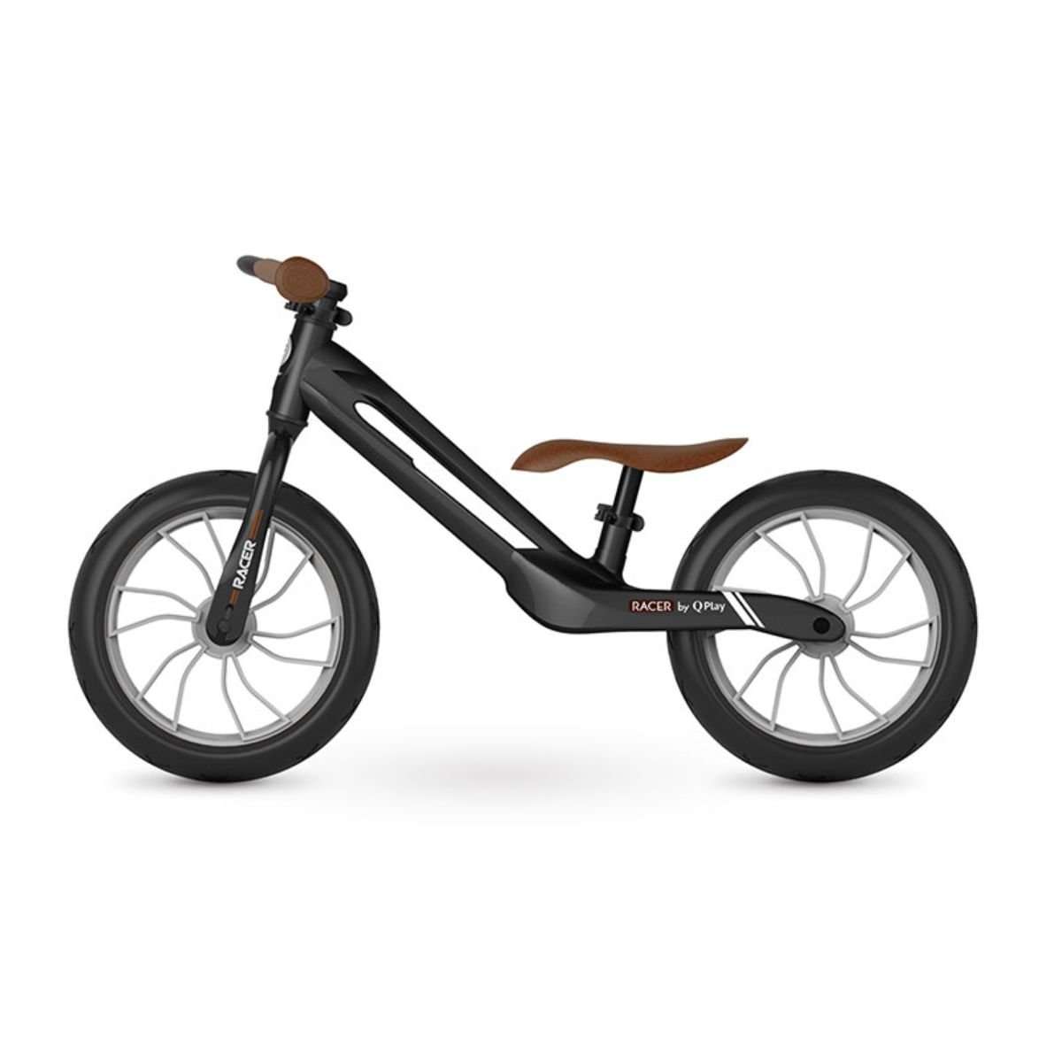 Bicicleta fara pedale DHS Baby Qplay Racer, Negru, 12 inch